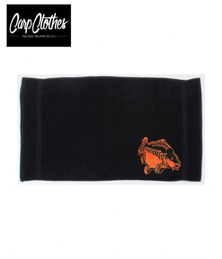 009 EMBROIDERED BLACK HAND TOWEL XL